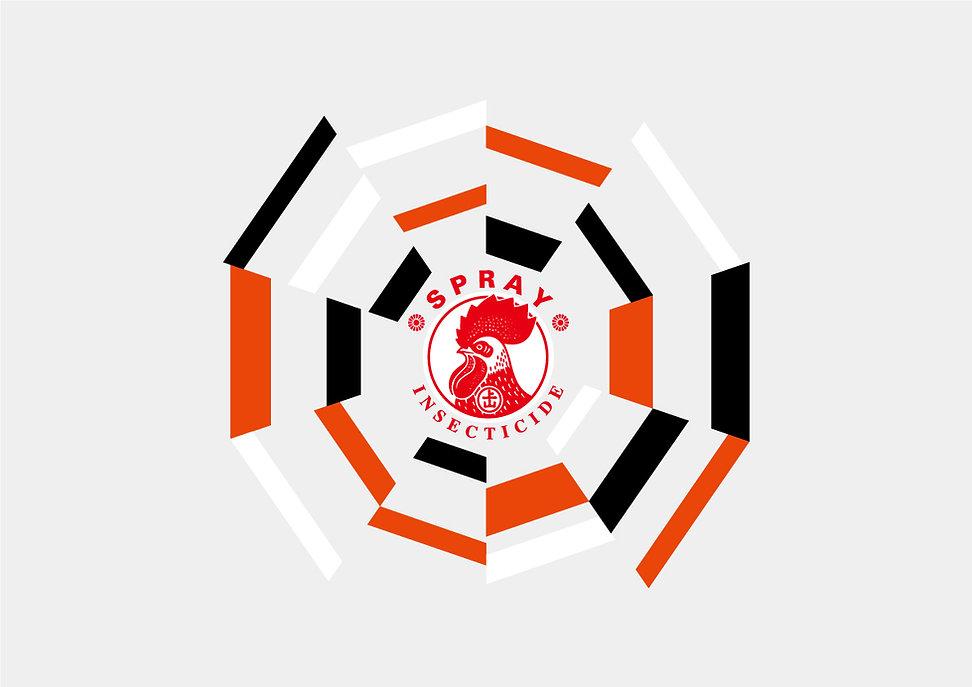 パッケージデザイン クモがいなくなるスプレー ロゴ