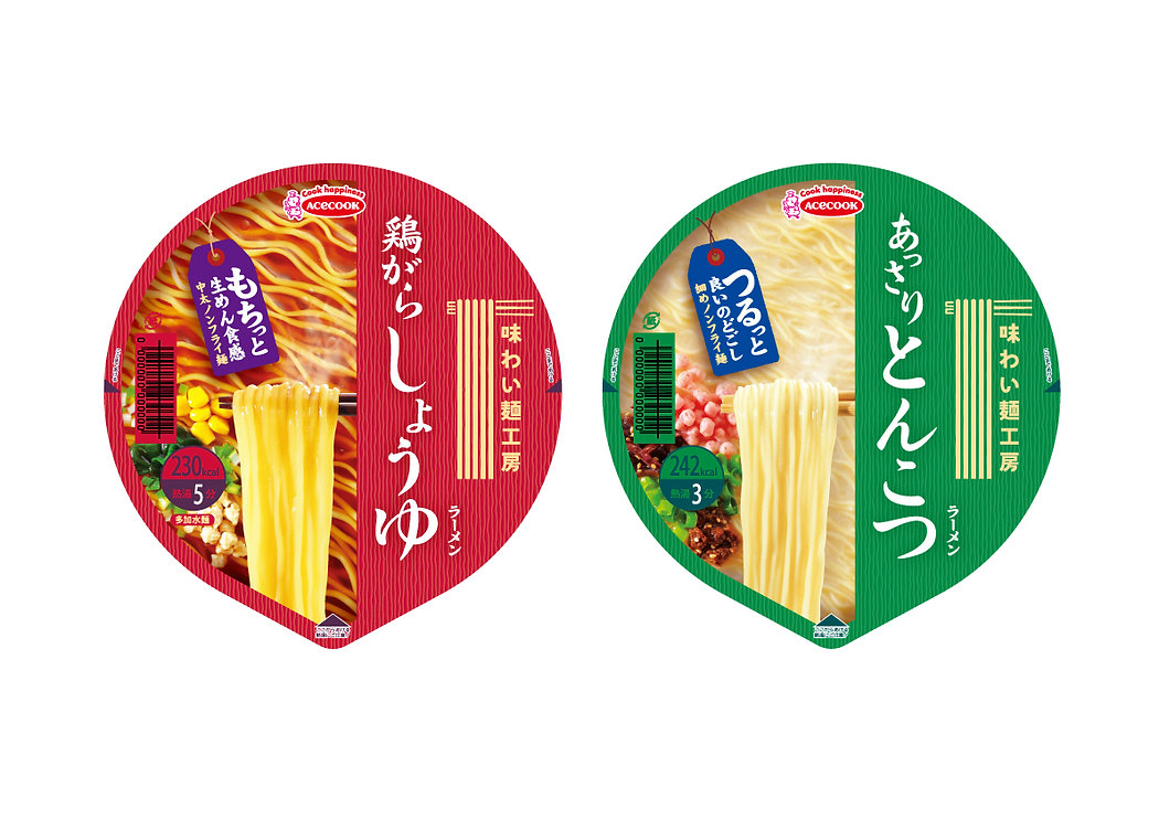 パッケージデザイン 味わい麺工房 インスタントラーメン