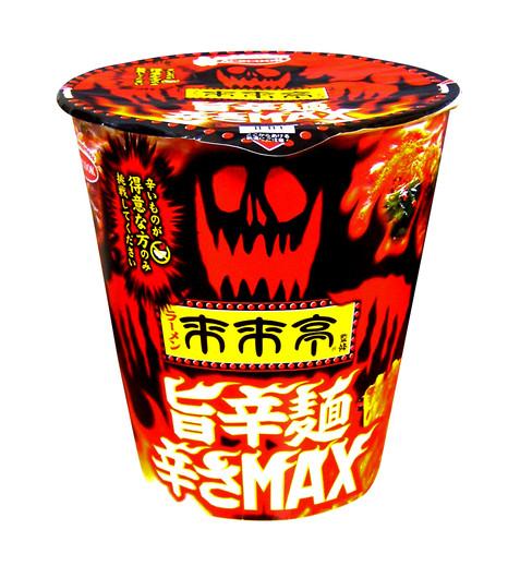 パッケージデザイン 来来亭 旨辛麺辛さMAX