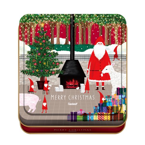 パッケージデザイン 2017クリスマス チョコ缶