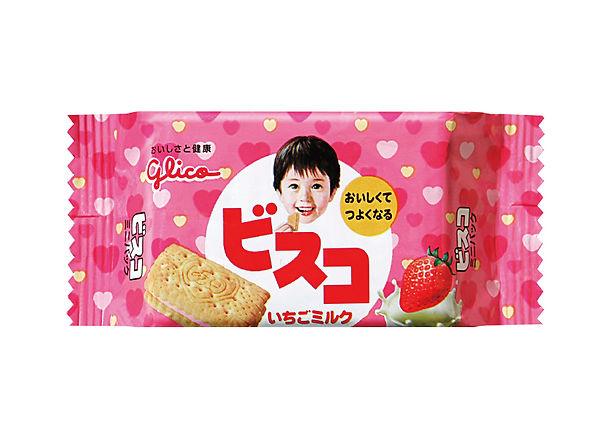 パッケージデザイン ビスコ いちごミルク