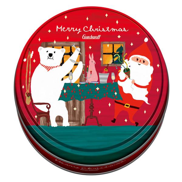 パッケージデザイン 2016クリスマス ゴンチャロフ チョコ缶
