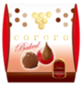 パッケージデザイン cororo チョコレートベイクドストロベリー