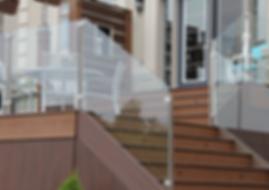 glass railing balcony
