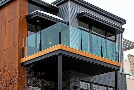 glass railings balcony handrail