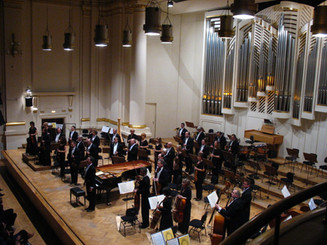 Conducting and playing Mozart Concerto with Krakow Philharmonic