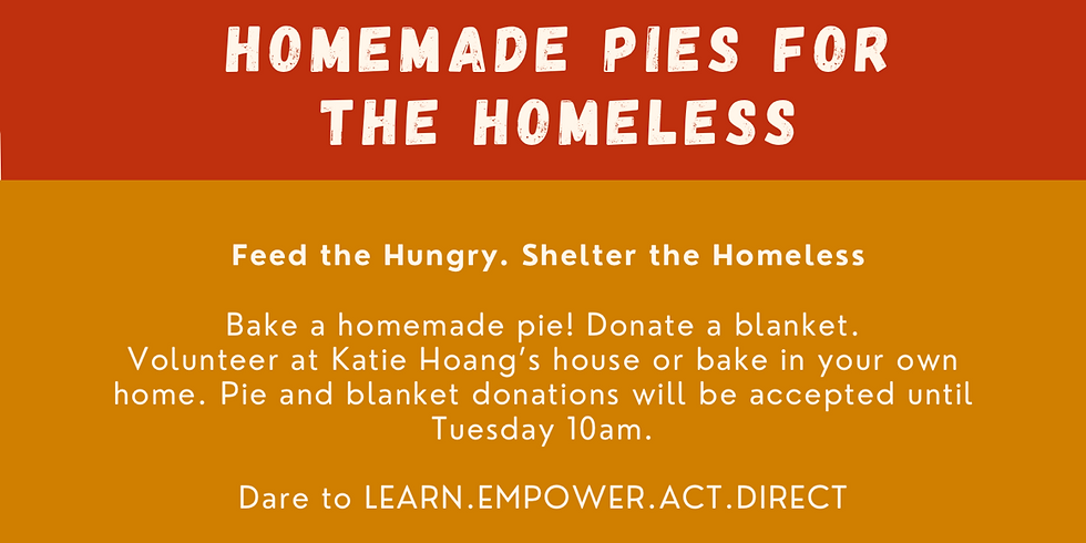 Homemade Pies for the Homeless
