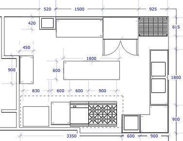 green kitchen layout