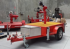 Pearl Fire Emergency Response Monitor Trailer