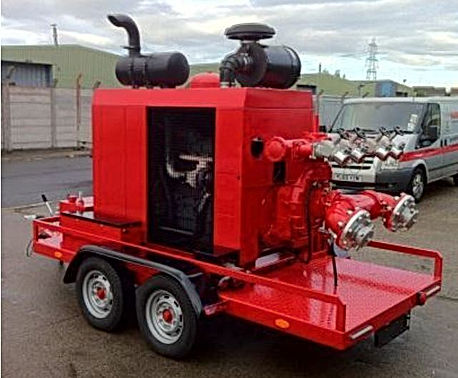 Pearl Fire Emergency Response Fire Fighting Diesel Fire Pump Trailer