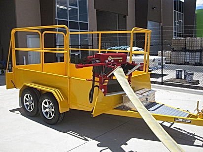 Pearl Fire Emergency Response Fire Fighting Hose Retrieval Trailer