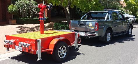 Pearl Fire Emergency Response Monitor Trailer