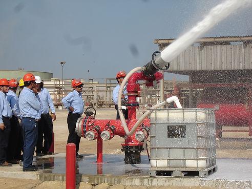 Pearl Fire Emergency Response Fire Fighting Foam Monitor Station Fixed