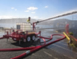 Pearl Fire Emergency Response Fire Fighting Foam Monitor Trailer
