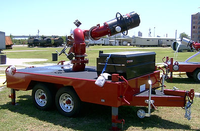 Pearl Fire Emergency Response Fire Fighting Battler Trailer Monitor with Storage