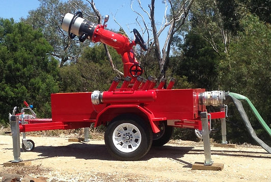 Pearl Fire Emergency Response Fire Fighting Monitor Trailer Williams Nozzle