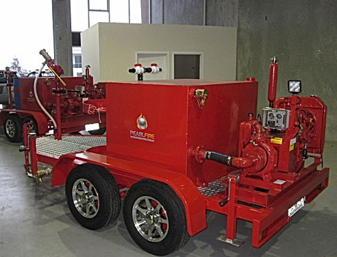 Pearl Fire Emergency Response Fire Fighting Fire Pump Trailer Foam