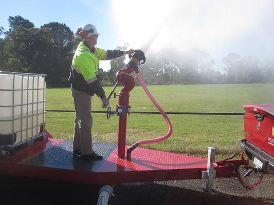 PearlFire Emerency Response Fire Fighting Foam Monitor Trailer