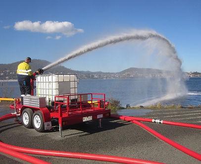 Pearl Fire Emergency Response Fire Fighting Foam Monitor Trailer