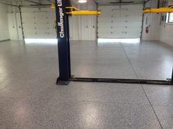 epoxy flake floor workshop