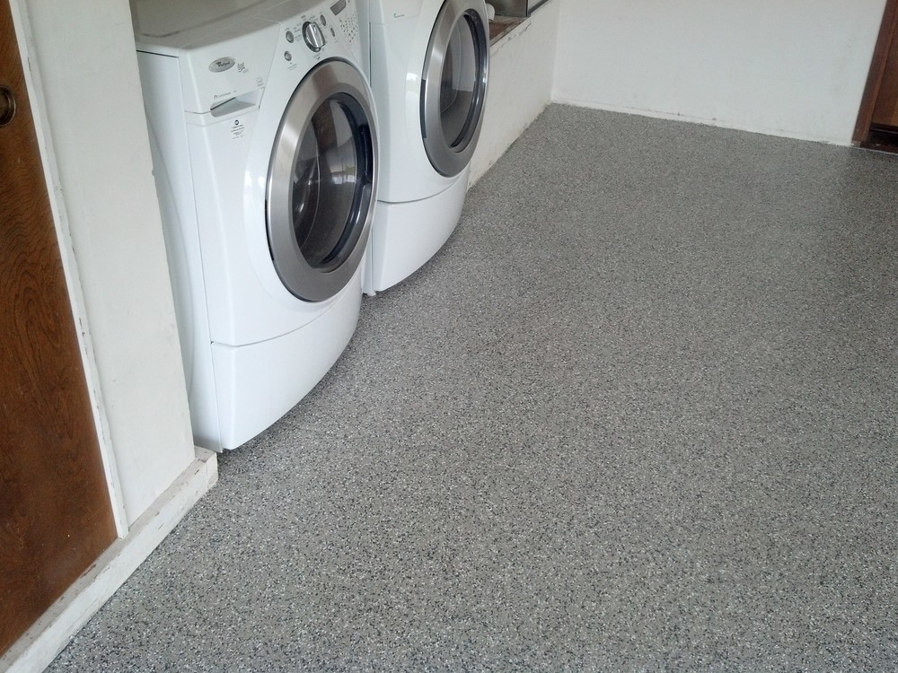 epoxy flake floor laundry
