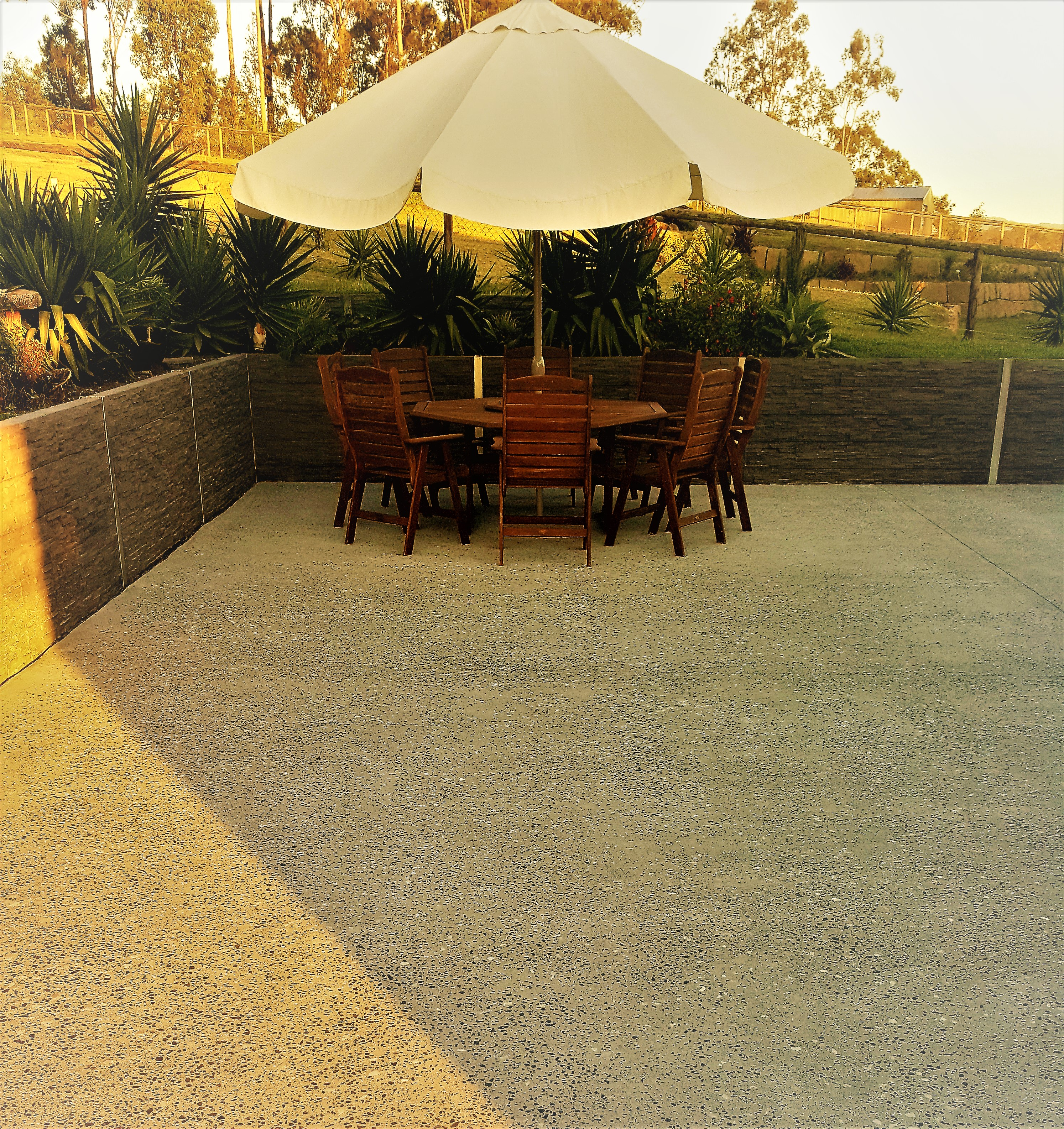 Grind and seal concrete Patio