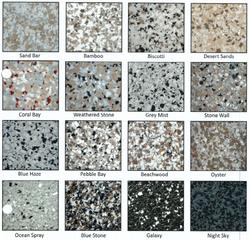 traditional epoxy flake floor range
