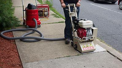 Scarifier trip hazard machine hire