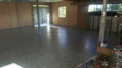 diy epoxy flake floor