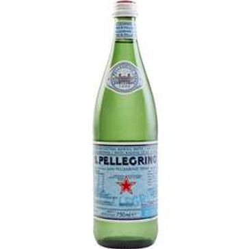 S.Pellegrino Sparkling Natural Mineral Water Glass Bottles 750mL x 12 Bottles