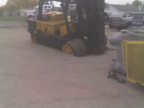 Ground given out beneath forklift