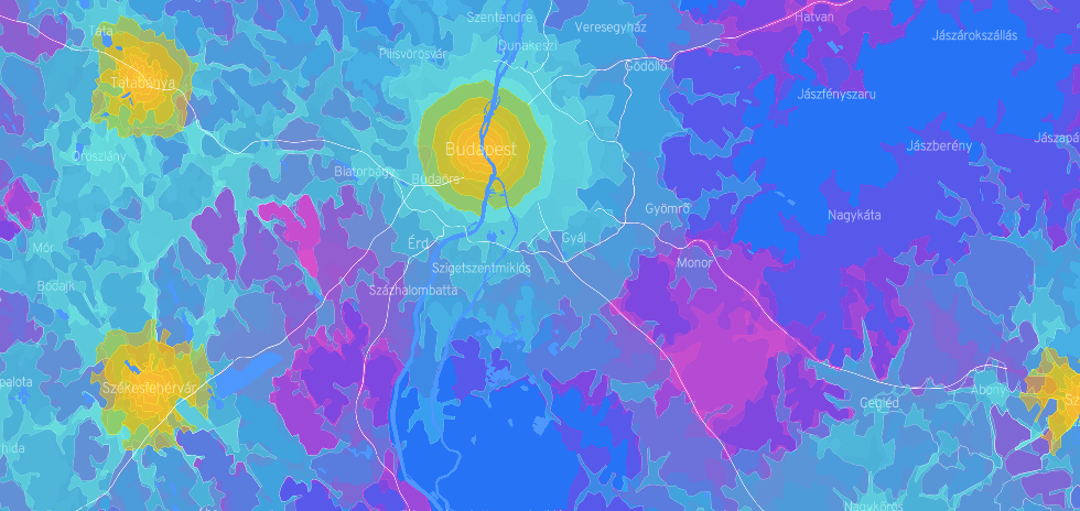 Commuting Times on Isocrhone Maps