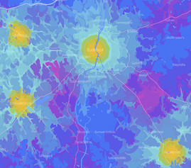 Isochrone maps of Hungary
