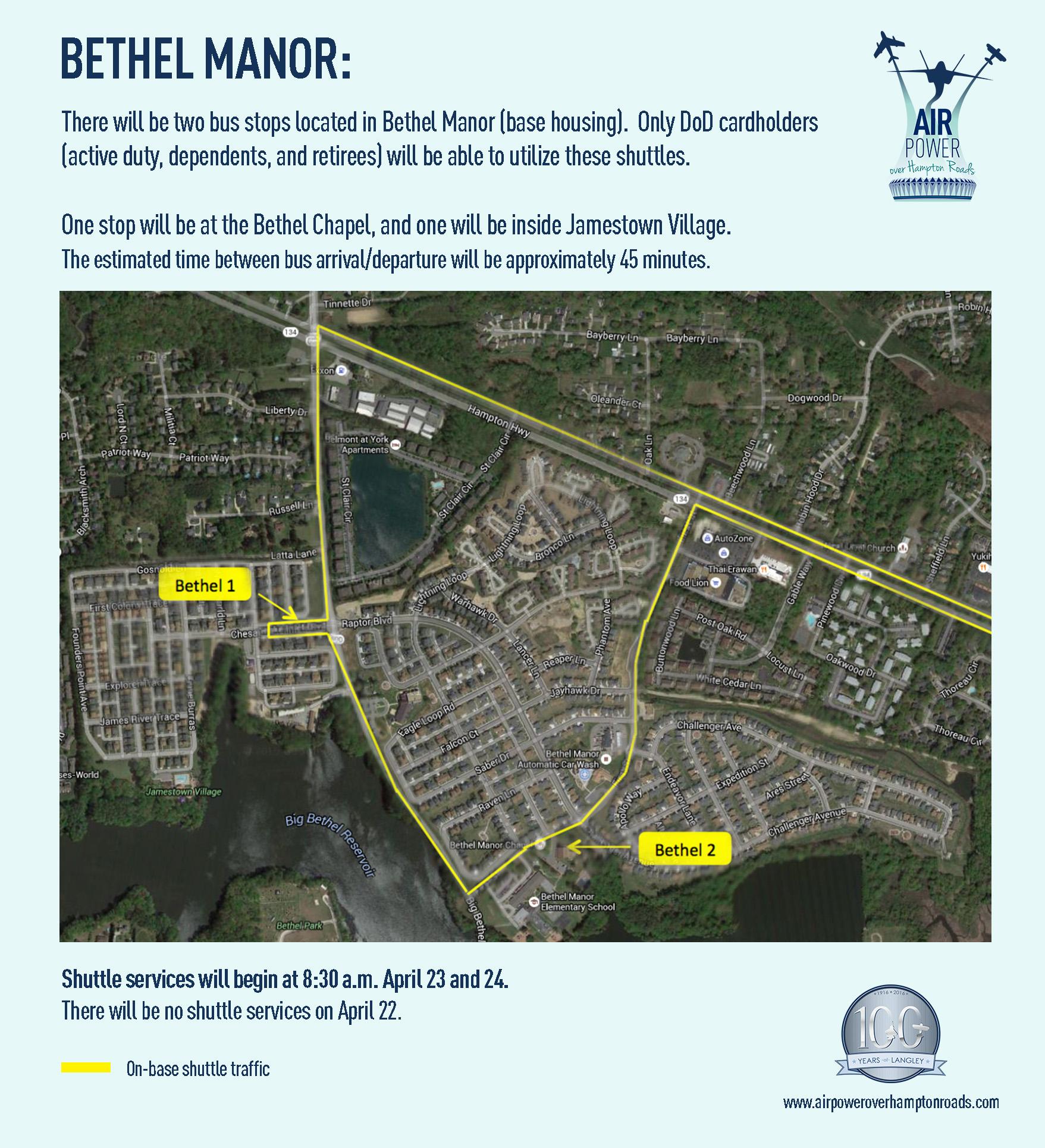 Bethel Manor parking info
