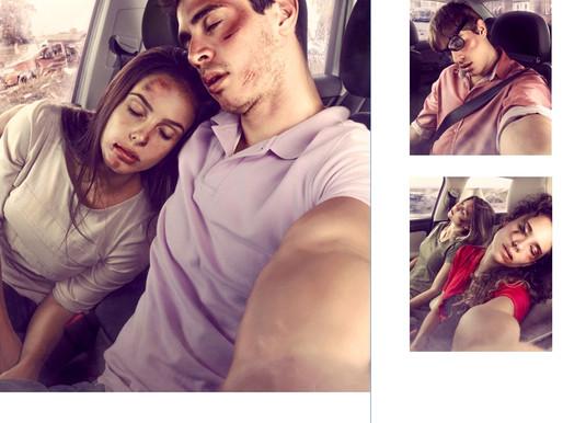 Selfie e direção não combinam