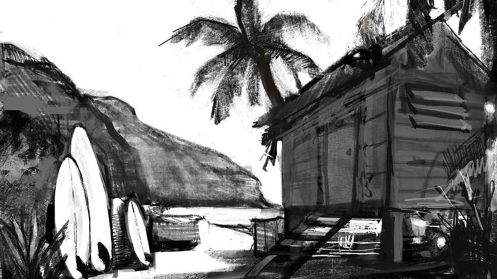 Hawaiian Dream B/W