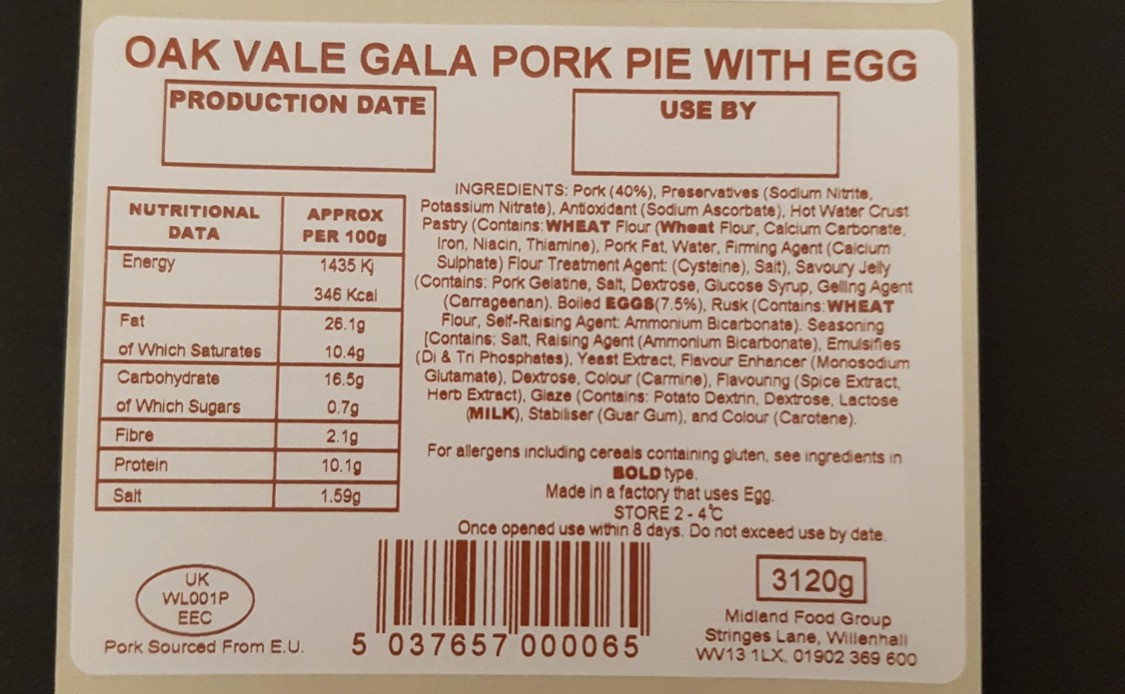 Thermal Transfer Food Label