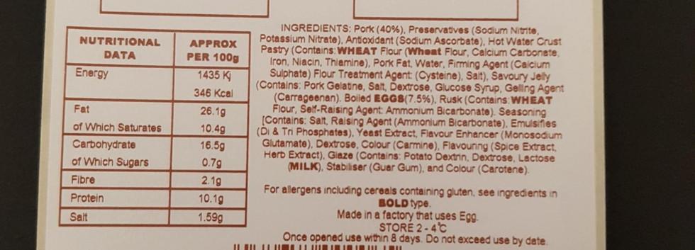 Thermal Transfer Food Label