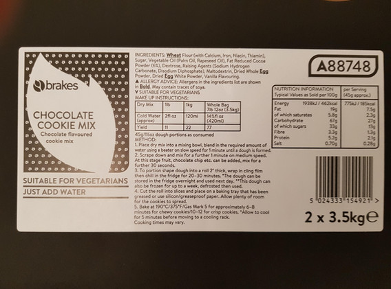 Made to Measure Food Label