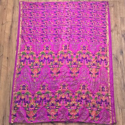 Vintage pink Indian silk sari