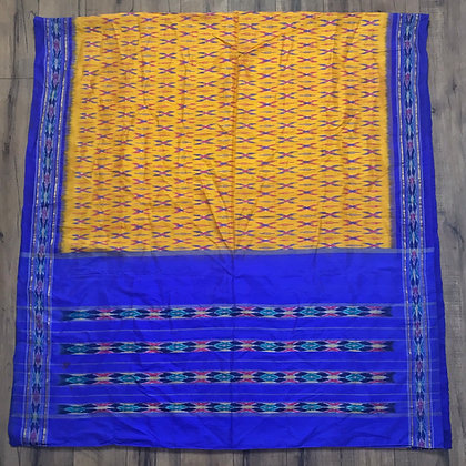 Yellow and purple vintage Indian silk sari