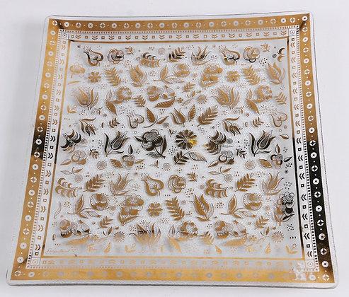 "Georges Briard ""Persian Garden"" Glass Platter"