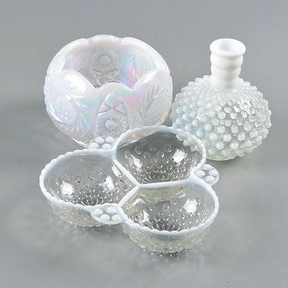 Vintage White Glass Set