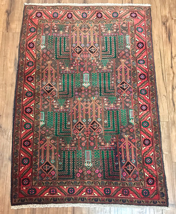 red and green persian rug