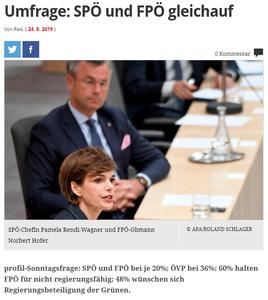 unique research peter hajek josef kalina umfrage politik wahlen waehlertrend profil august 2019 online artikel