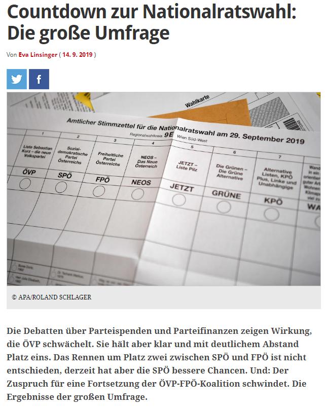 unique research peter hajek josef kalina umfrage politik wahlen nationalratswahl 2019 online artikel profil