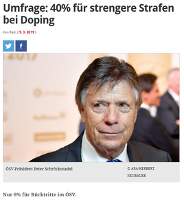 unique research josef Kalina peter hajek Profil Konsequenzen bei Doping im Spitzensport ÖSV Strafen