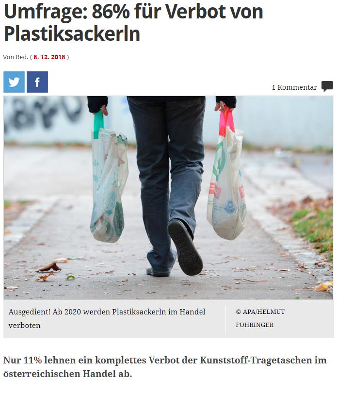 unique research umfrage profil josef kalina peter hajek Plastikersackerl Verbot im Handel