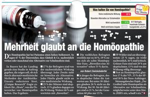 Unique research Umfrage HEUTE Frage der Woche josef kalina peter hajek meinung homöopathie