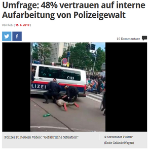 unique research josef Kalina peter hajek Profil Umfrage Übergriffe der Polizei Polizeigewalt Klimademonstration Aufklärung